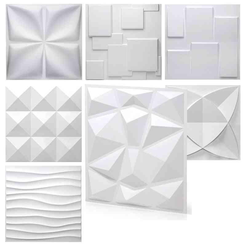Tile Panel Mold, Plaster 3d Wall Stickers, Living Room, Wallpaper Mural, Waterproof, Bathroom, Kitchen