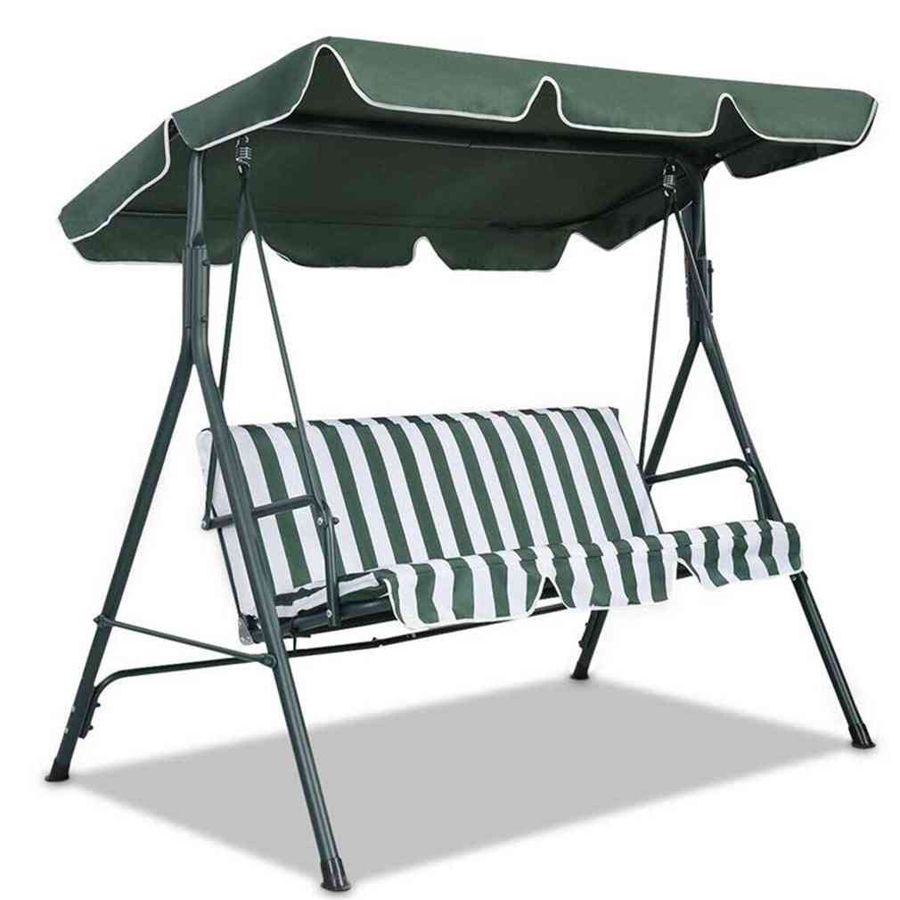 Garden Swing Seater Sunshade Cover Canopy - Top Cover Only (190x132x15cm)