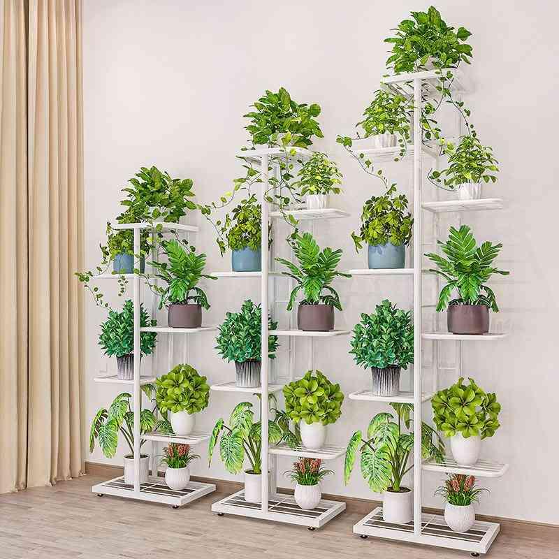 Multi Function Removable Storage Shelf, Iron Art Plant Holder, Home Garden, Flower Pot Organizer, Living Room Balcony Rack