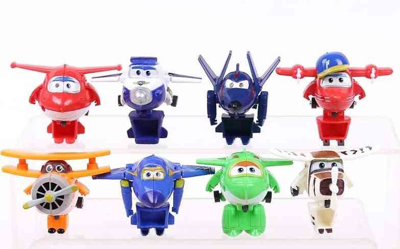 Super Wings Mini Planes, Airplane Robots Donnie Dizzy Mira Jett Paul (12pcs)