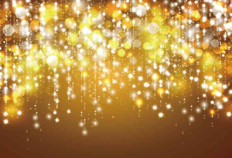 Laeacco Fantasy Glitter Star Polka, Party Baby Photography