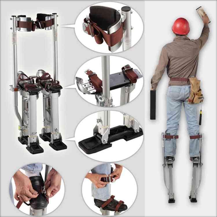 Adjustable Aluminum Plastering Stilt Ladder Drywall Plaste Stilts Stage Props Interior Decoration Stand