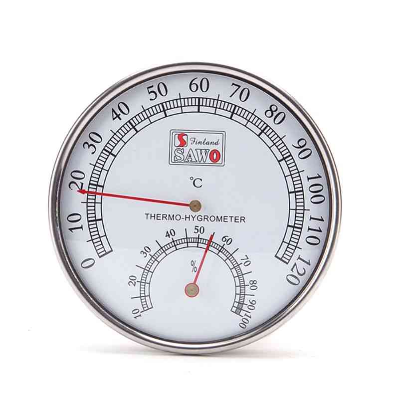 Stainless Steel Case Steam Sauna Room Thermometer