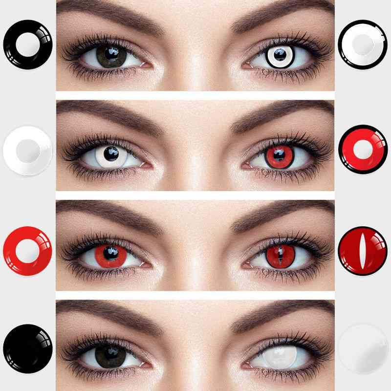 2pcs Halloween Colorful Contact Lenses Anime Cosplay Naruto Eye Lenses