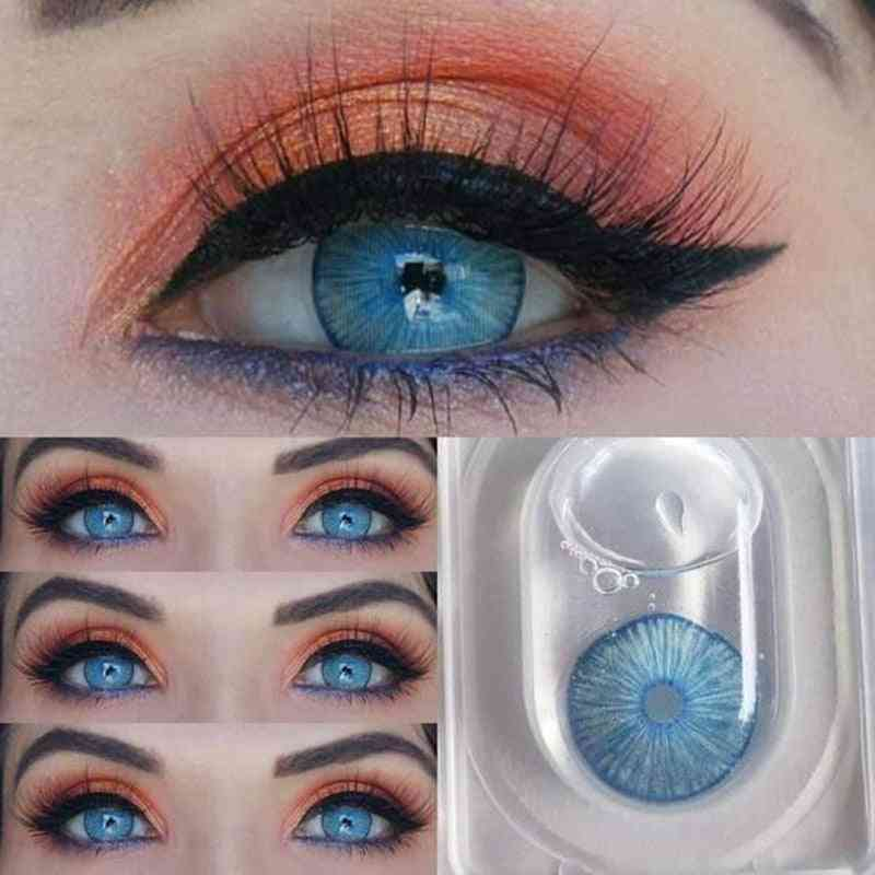 2pcs/pair Cosmetic Contact Lenses Colored Lenses For Eyes Contacts Lenses