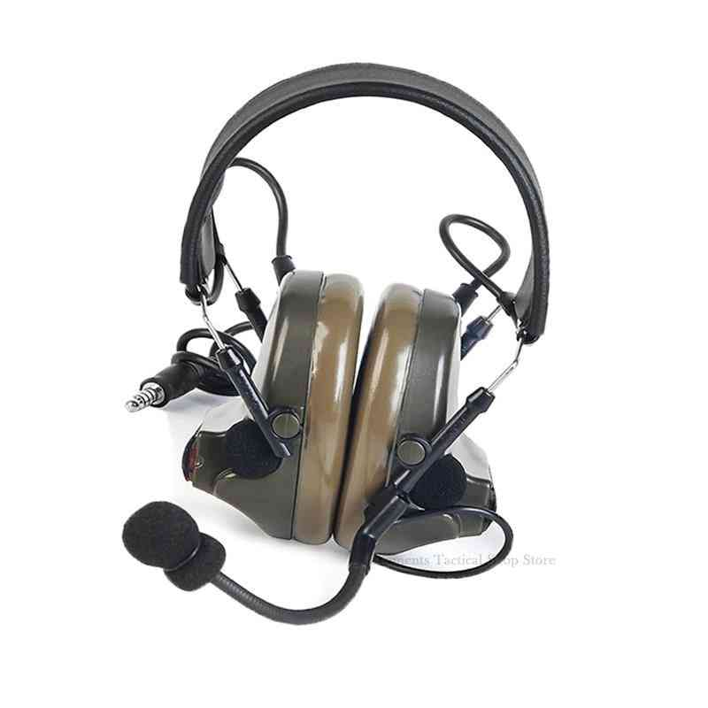Headphones Peltor Active Noise Reduction Two Modes For Walkie-talkie Softair
