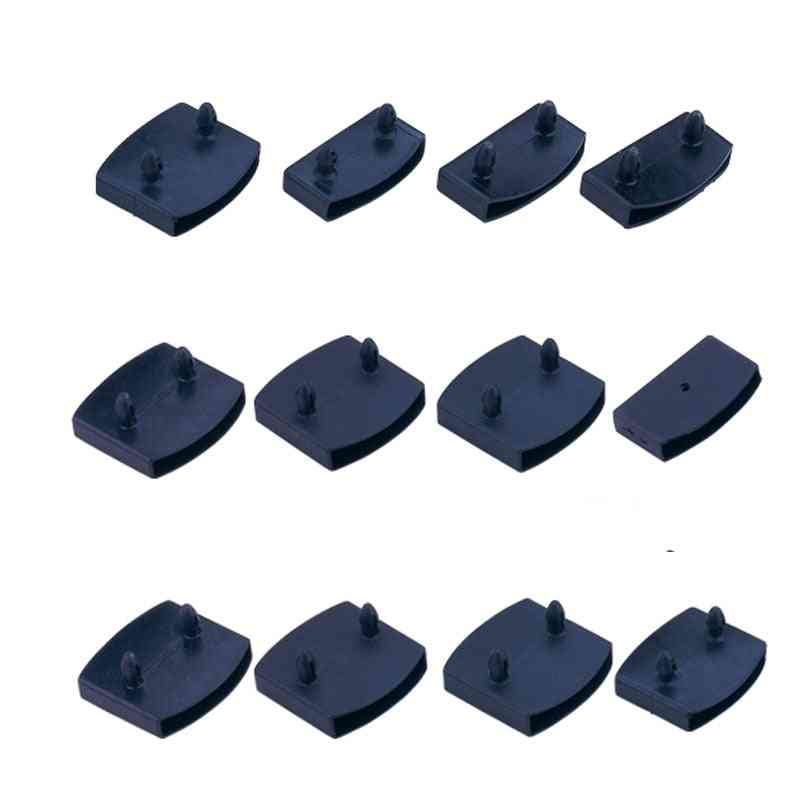 Black Plastic Square Replacement Sofa Bed Slat Centre End Caps Holders Inner Rubber Sleeve