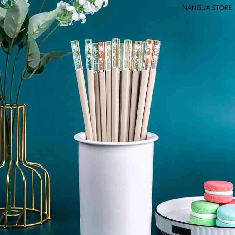 Mildew Proof Amber Glass Fiber High Temperature Sushi Chopstick