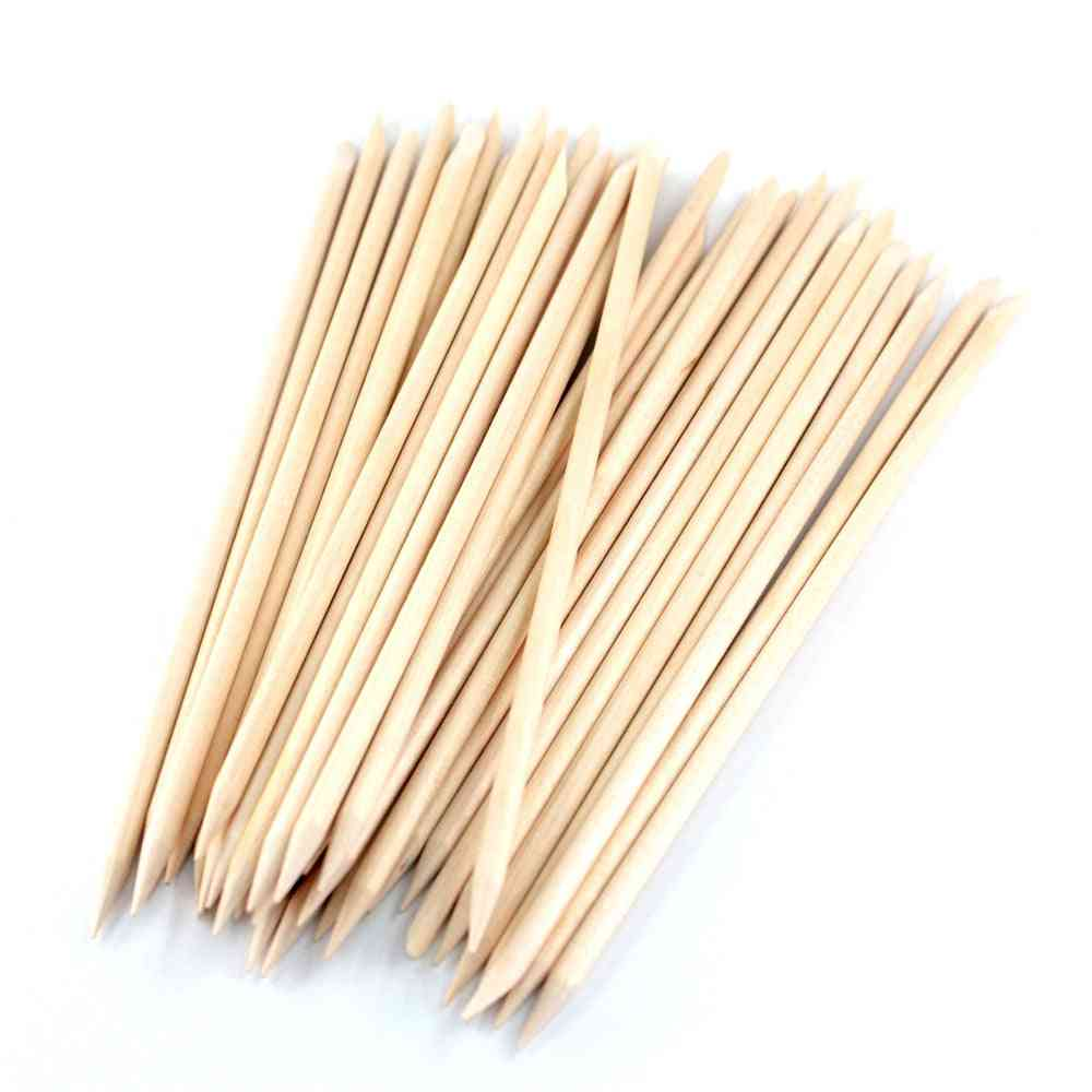 4 Different Orange Wood Sticks For Cuticle Pusher Cuticle Remover Tool