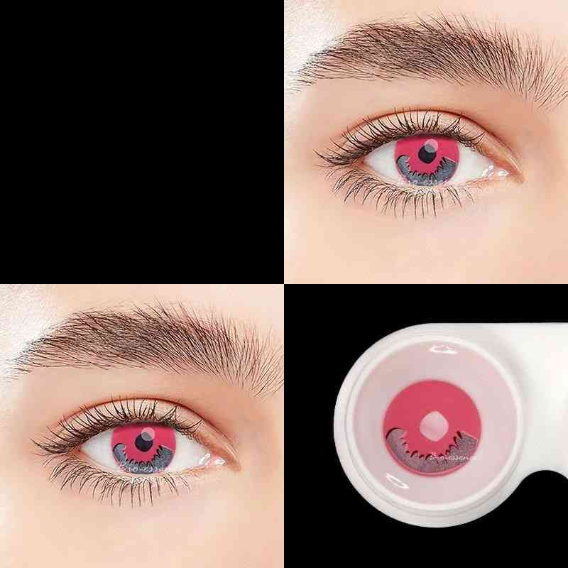 Pair Pink Lenses Anime Accessories Color, Eye Contact Lenses