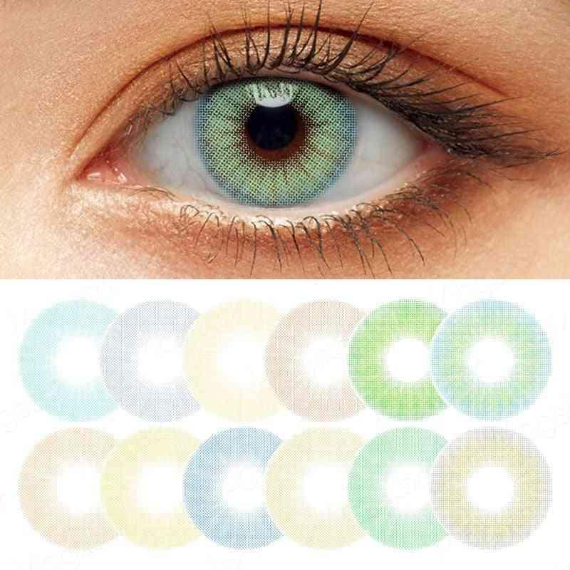 Hidrocor Queen Series Colored Contact Annual Eye Lenses For Eyes Contact Lens