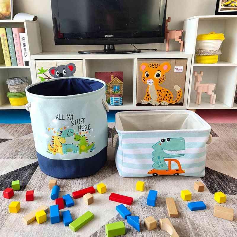 Baby Laundry Basket Cute Dinosaur Foldable Storage Bucket