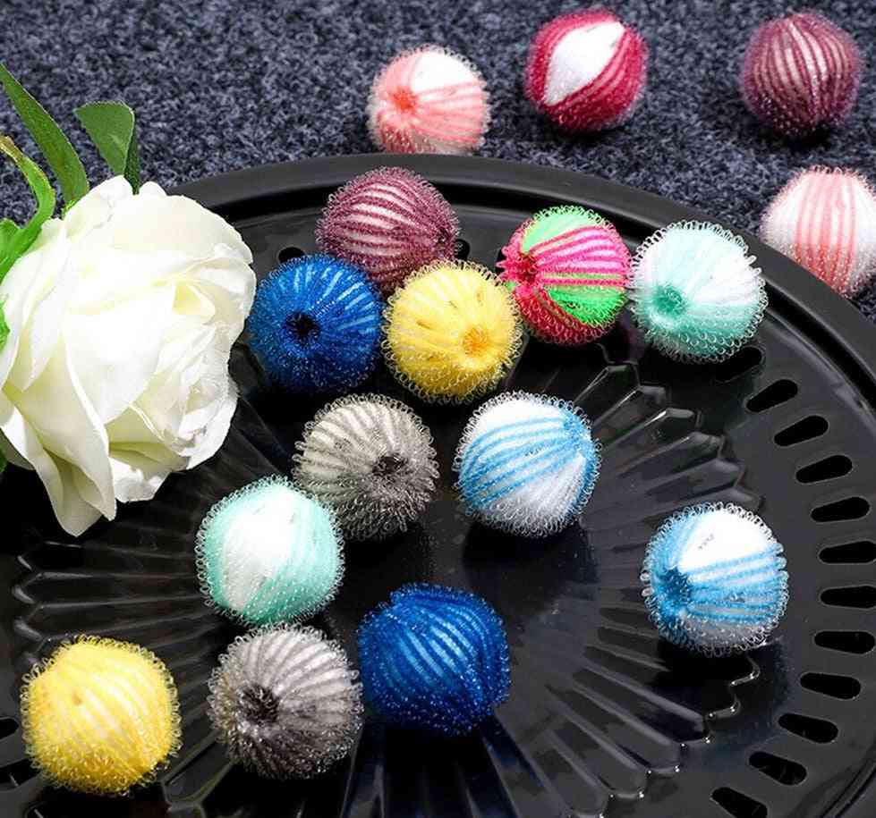 6pcs Nylon Laundry Ball Decontamination Washing Machine