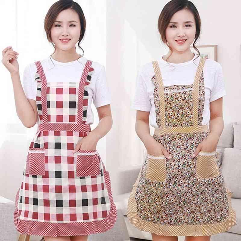 Household Waterproof Hand-wiping Kitchen Heart Love Waterproof Polyester Apron