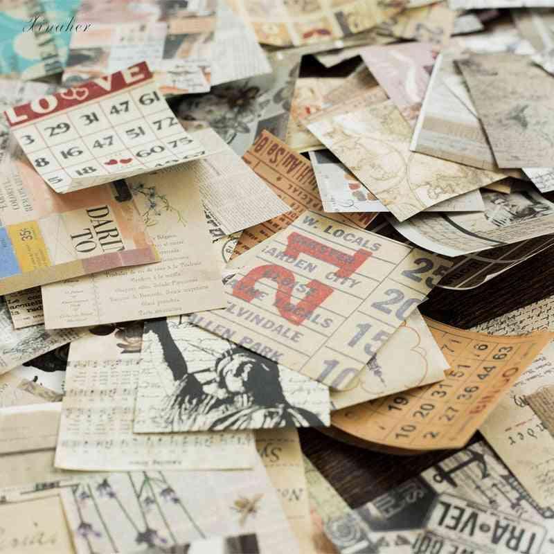 165pcs Mini Old Book Plant Collage Paper Junk Journal Planner Scrapbooking