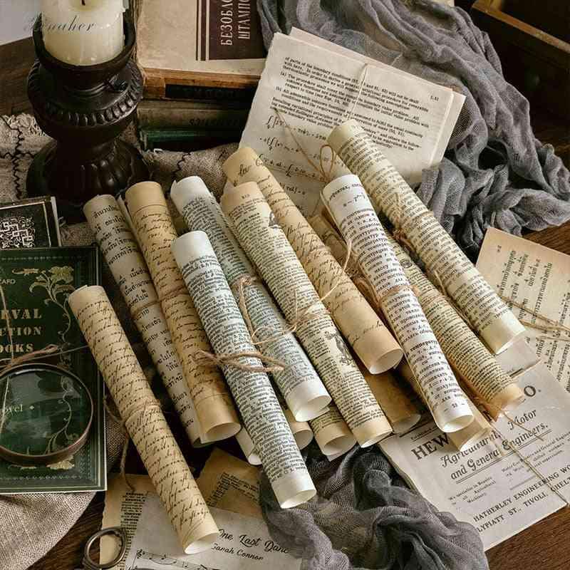 Vintage Junk Journal Large Size Retro Material Papers Diy Scrapbooking