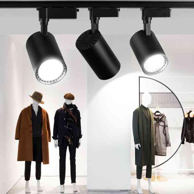 Led Track Lights 220v Cob Track Lamp Lighting Fixture - Spotlights Rail Lamps For Cloth Shop Home Lighting Bedroom