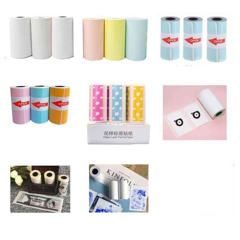 Rolls Thermal Paper Label Paper Sticker Paper Photo