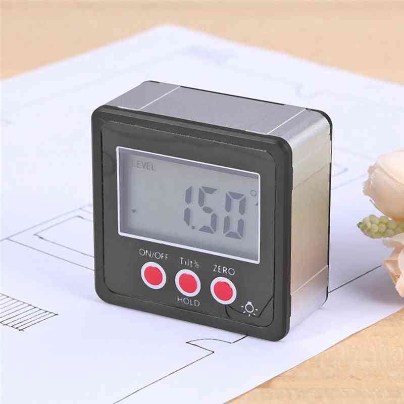 Lcd Mini Digital Protractor Inclinometer Level Gauge For Angle Protractor Bevel Box