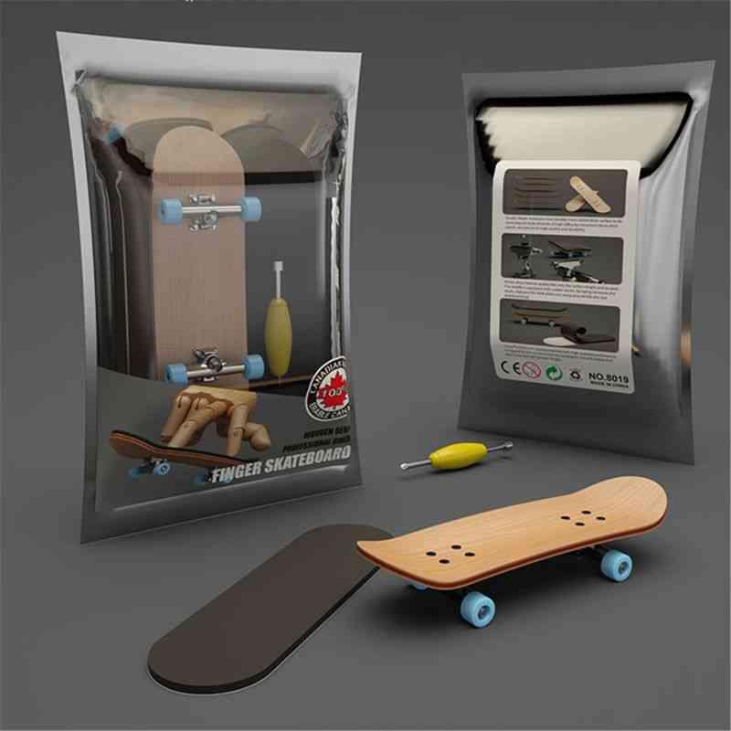 Finger Skateboard, Wooden Fingerboard Toy, Professional Stents Skate Set, Christmas