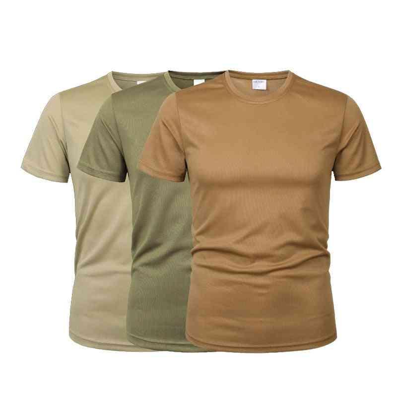 Men Running Tactical Fitness T Shirt Sportswear Military Rash Guard