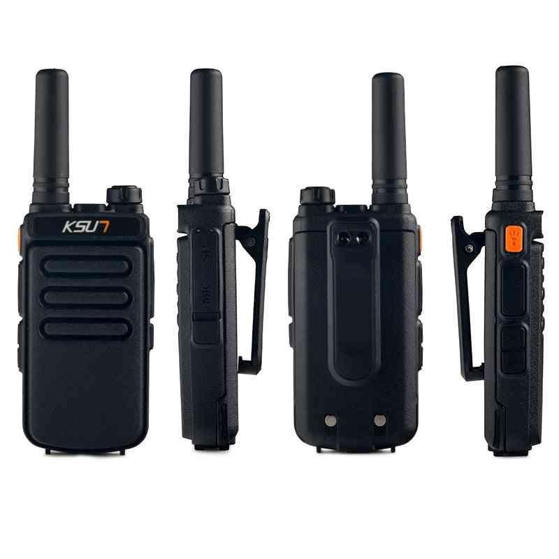 2 Pcs Talkie Walkie Scanner Uhf Radio Station Radio  Communicator Walkie-talkie