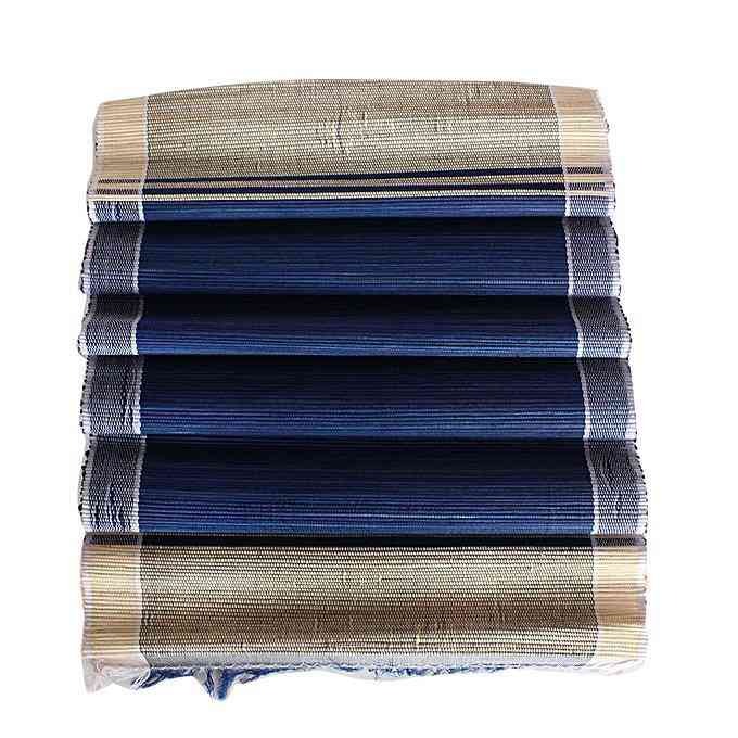 African Raffia Leaves Set Of Placemats  And Table Runner