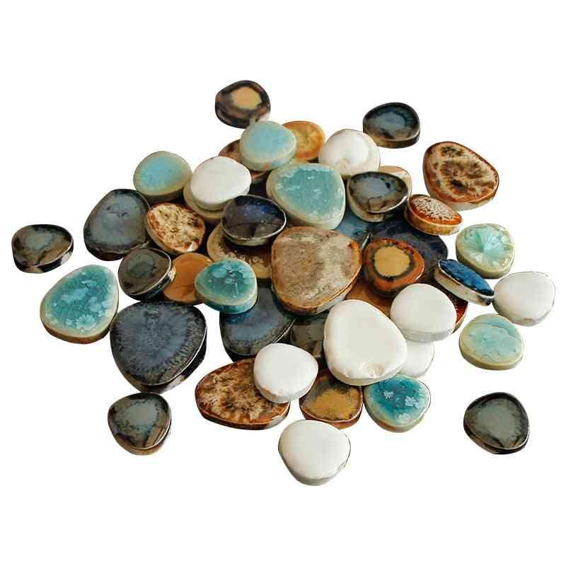 100g Ceramic Mosaic Tiles For Craft Irregular Drop Shape Mosaic  Pieces Porcelain Tile