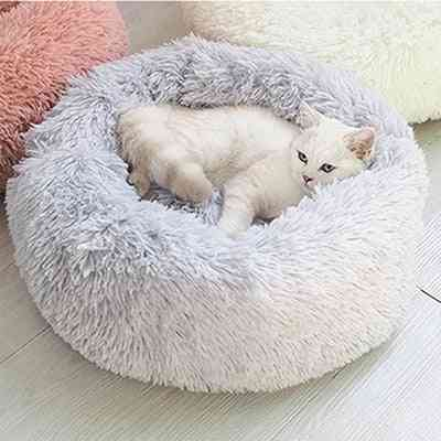 Dog Pet Bed Kennel Round Cat Winter Warm House Sleeping Bag