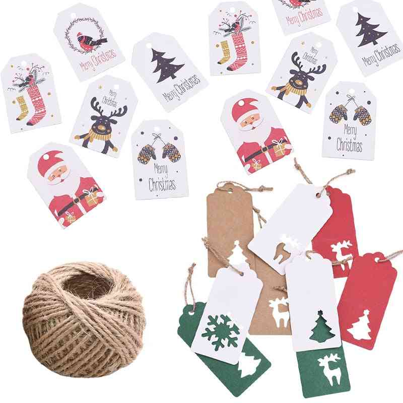 Merry Christmas Kraft Paper Card Label Diy Hang Tag