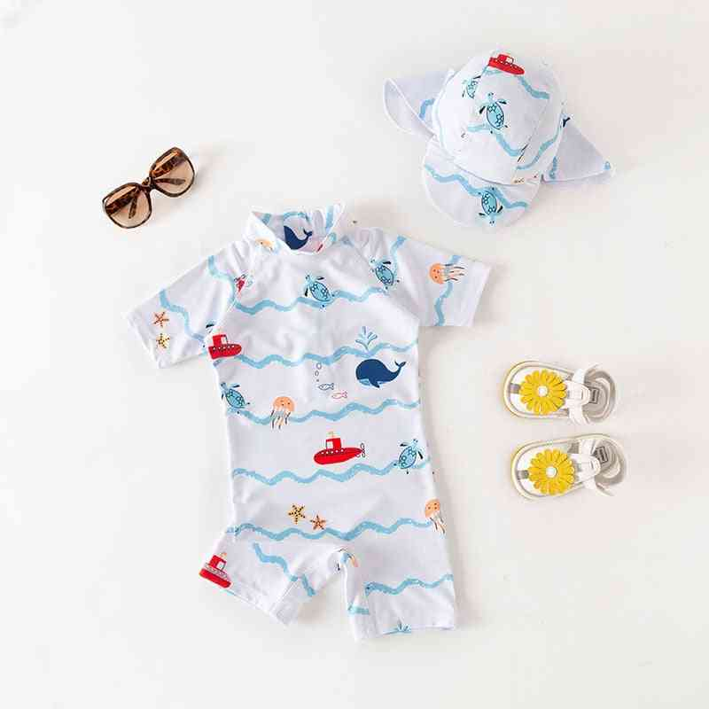 Sailing Boat Swimsuit Girl Swimming Uv Protection Child Bathing Clothes Beach Wear