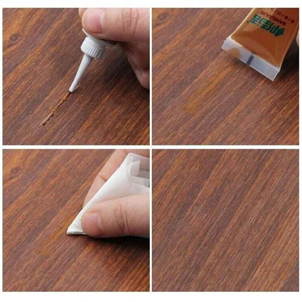 Repairing Paint For Solid Wood, Furniture Paint Putty For Paste Door, Floor Repair, Scratches On Floor