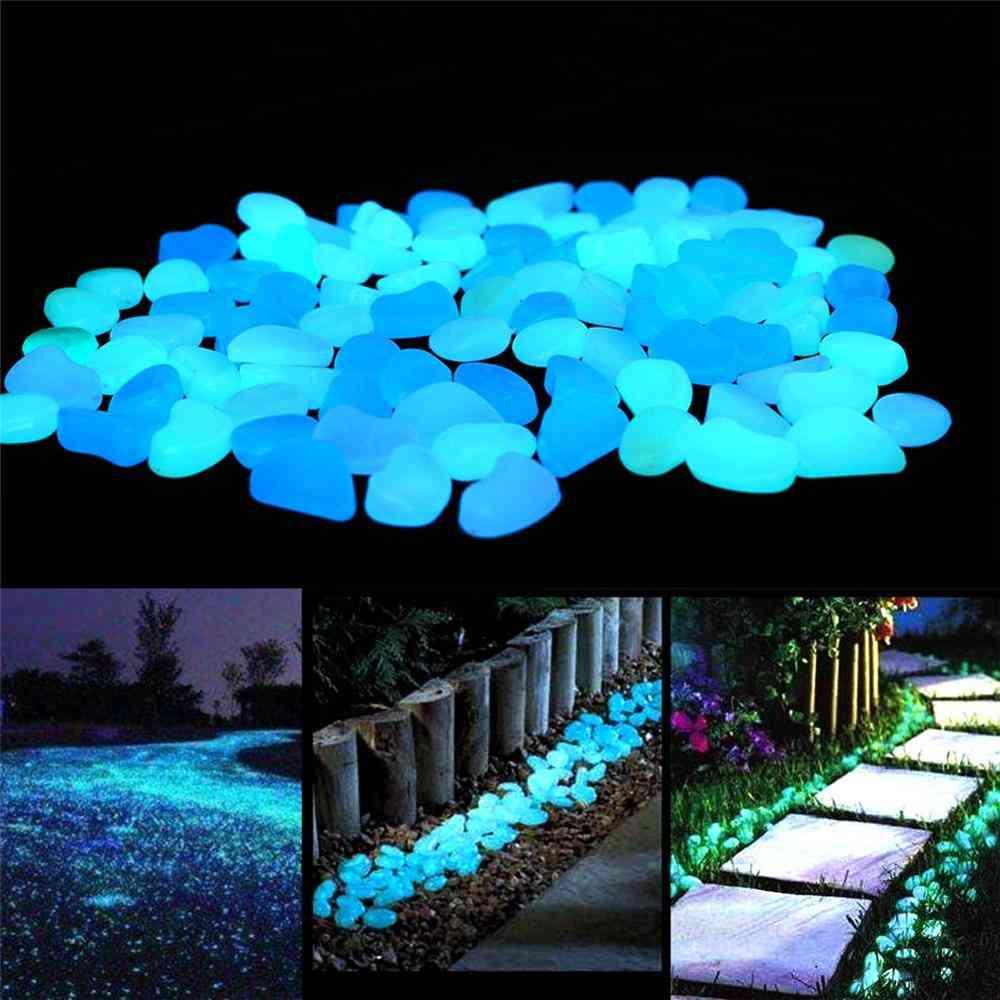 Garden Glow In The Dark, Luminous Pebbles For Walkways, Plants Aquarium Decor, Stones Garden Decoration