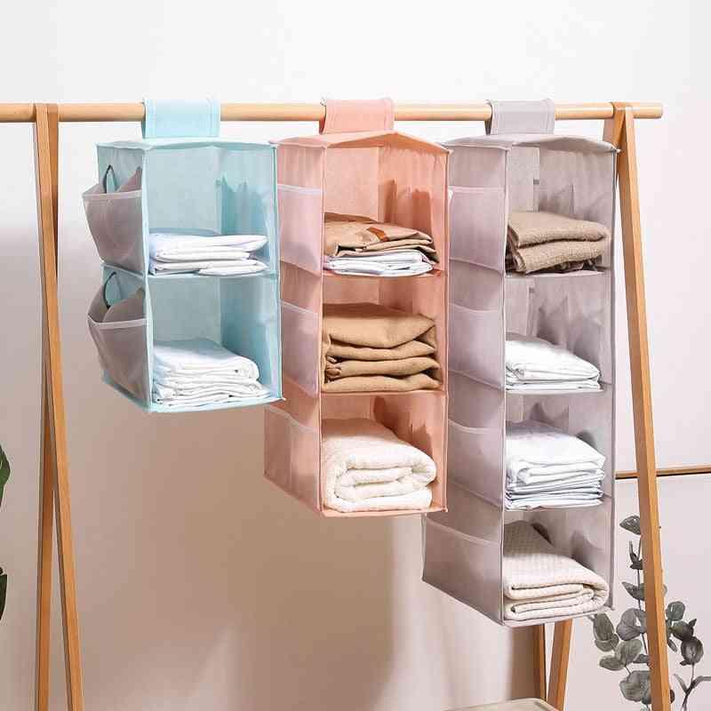 Multi-layer Wardrobe Closet, Foldable Item Storage Rack, Clothes Inner Hanger, Organizer Shelf