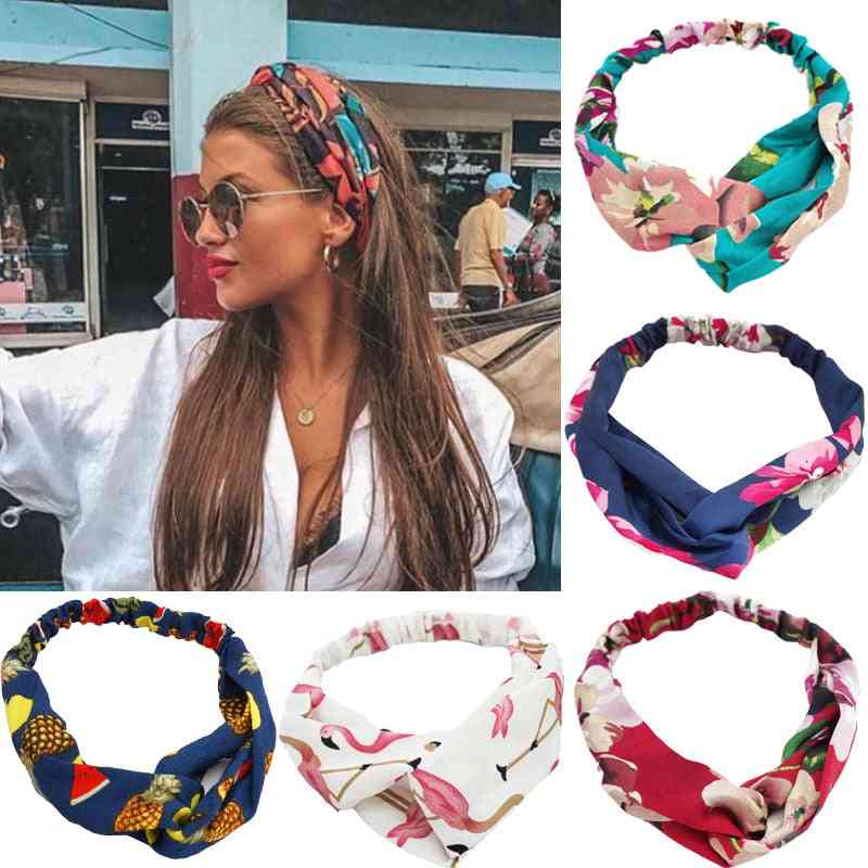 Bohemian Print Headbands- Vintage Cross, Turban Bandanas, Hair Bands Accessories