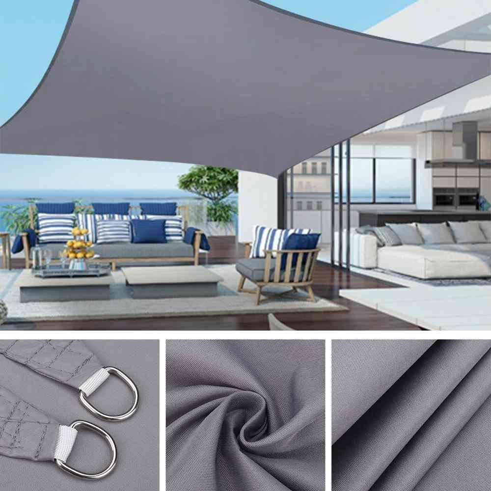 Waterproof Sun Shelter Sunshade Protection Sail Awning Camping Shade Cloth
