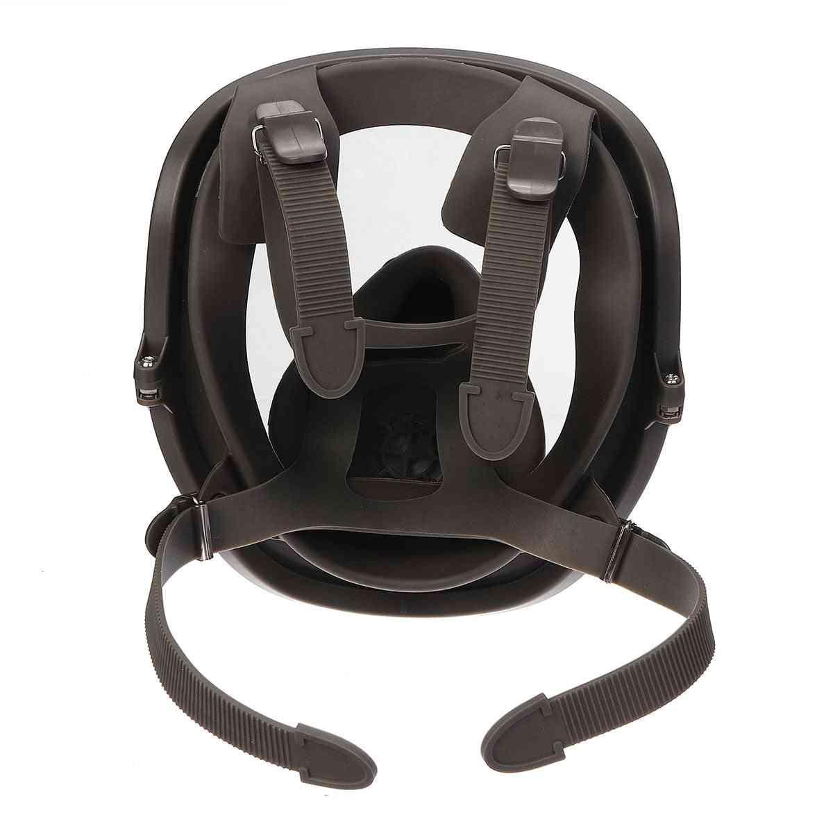 Face Gas Mask, Adjustable Gas Mask Full Facepiece Painting Spraying Respirator