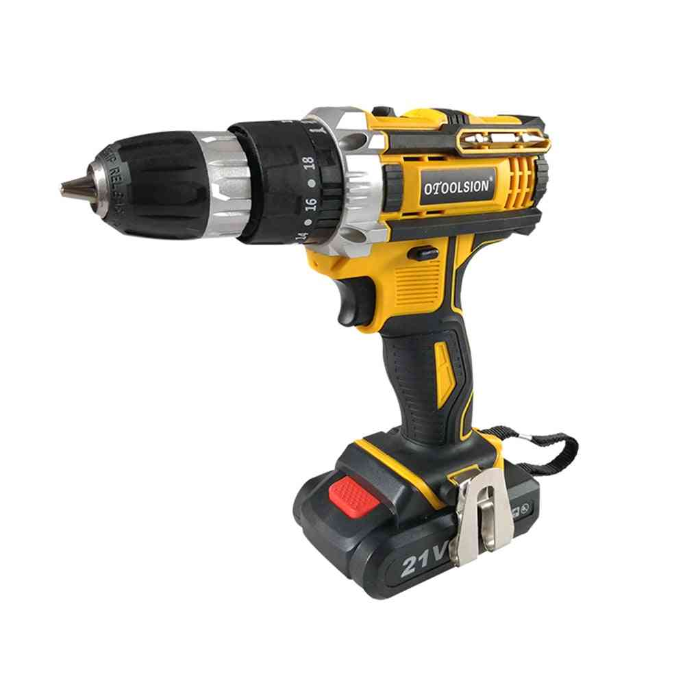 Torque Cordless, Drill Electrical Screwdriver, Wireless Electric Hand Tools