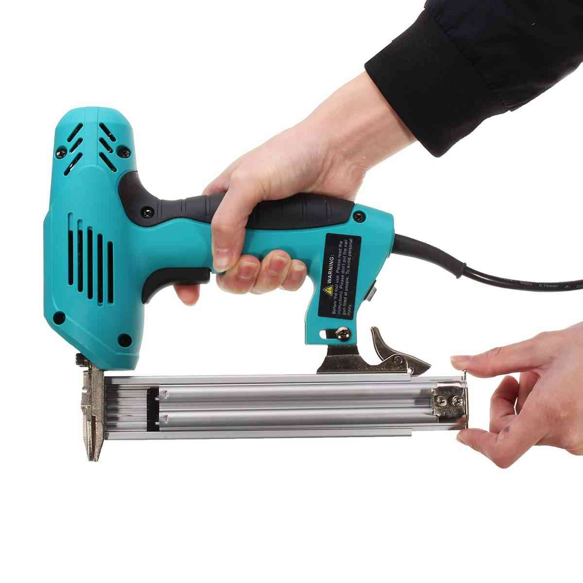 Electric Straight Nail-gun For Woodworking Electrical, Staple Tacker Gun Tool