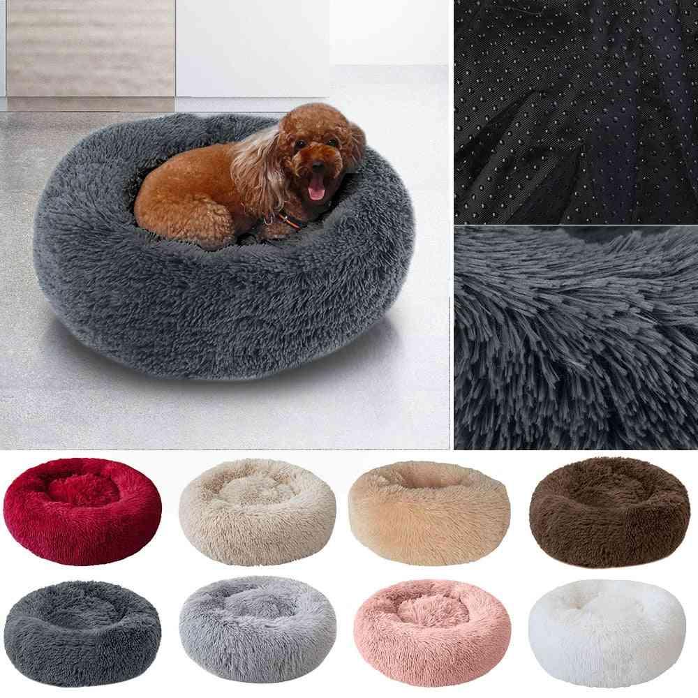 Pet Dog Bed, Comfortable, Donut Cuddler Round, Ultra Soft, Washable, Cat Cushion, Winter Warm Sofa