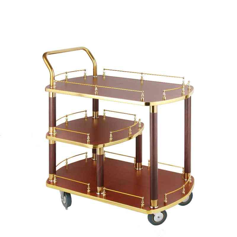 The Hotel Restaurant Stainless Steel Wine Truck Tea Cake Truck 4s Store Trolley