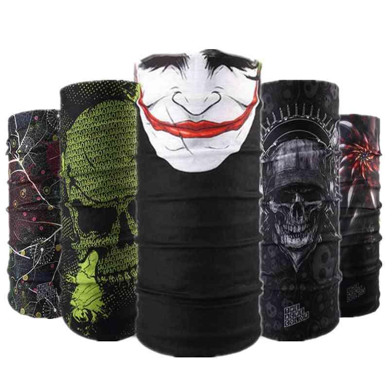 Skull Design Series Scarf Variety Tube, Half Face Mask, Halloween Headband, Bandana Headwear, Bicycle Head Scarf,