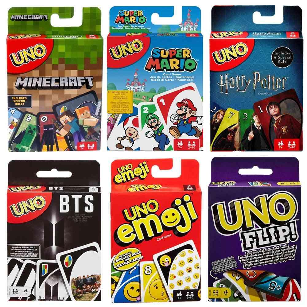 Multi Version Mattel Uno Family Card Game