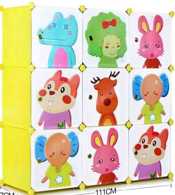 Baby Wardrobe Resin Kids Closet Armoire Enfant Assembly Storage Cabinets For