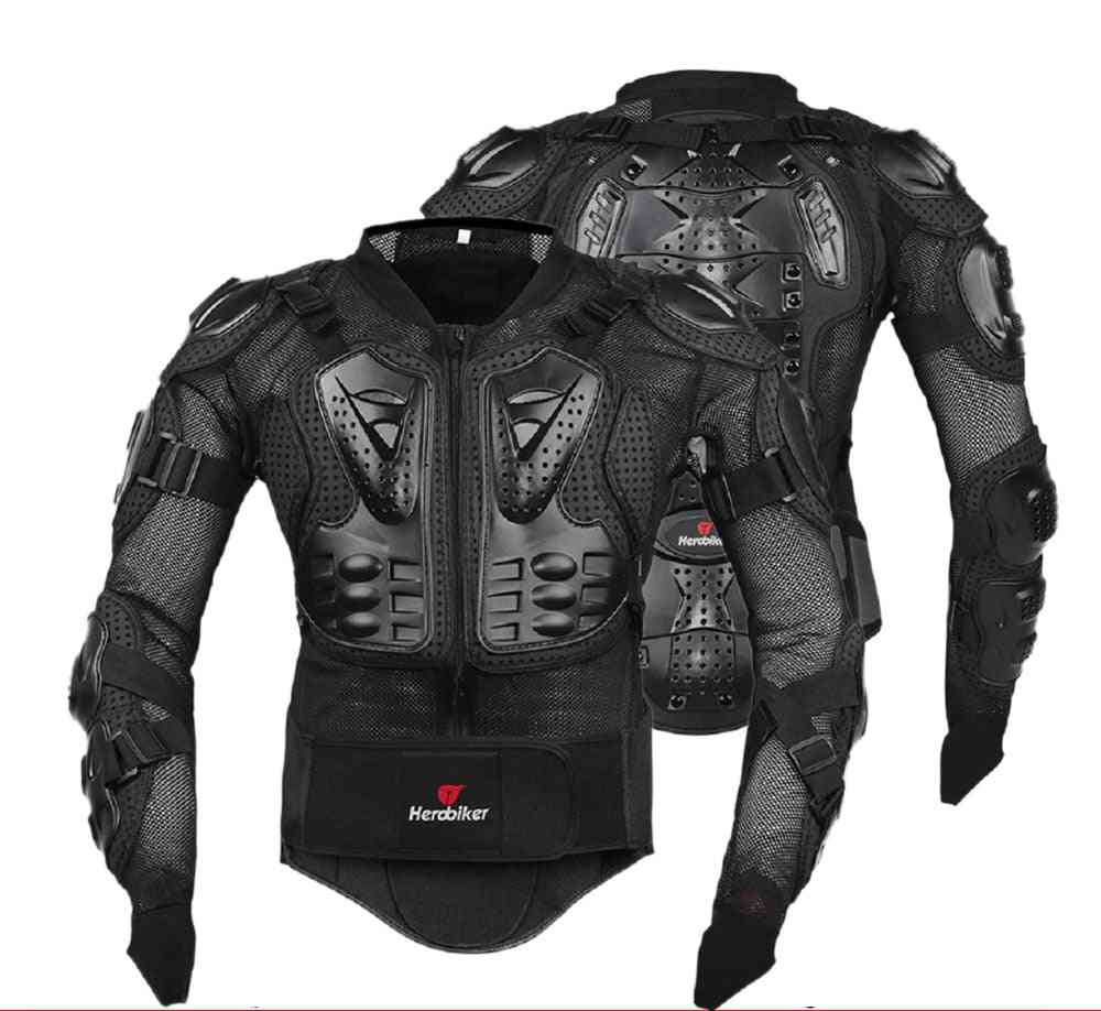 Motorcycle Jacket, Men Full Body Armor, Motocross Racing, Riding Motorbike Protection