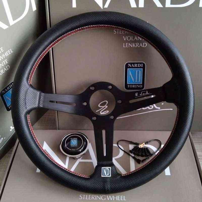 Leather Steering Wheel Racing Sports, Auto Pvc
