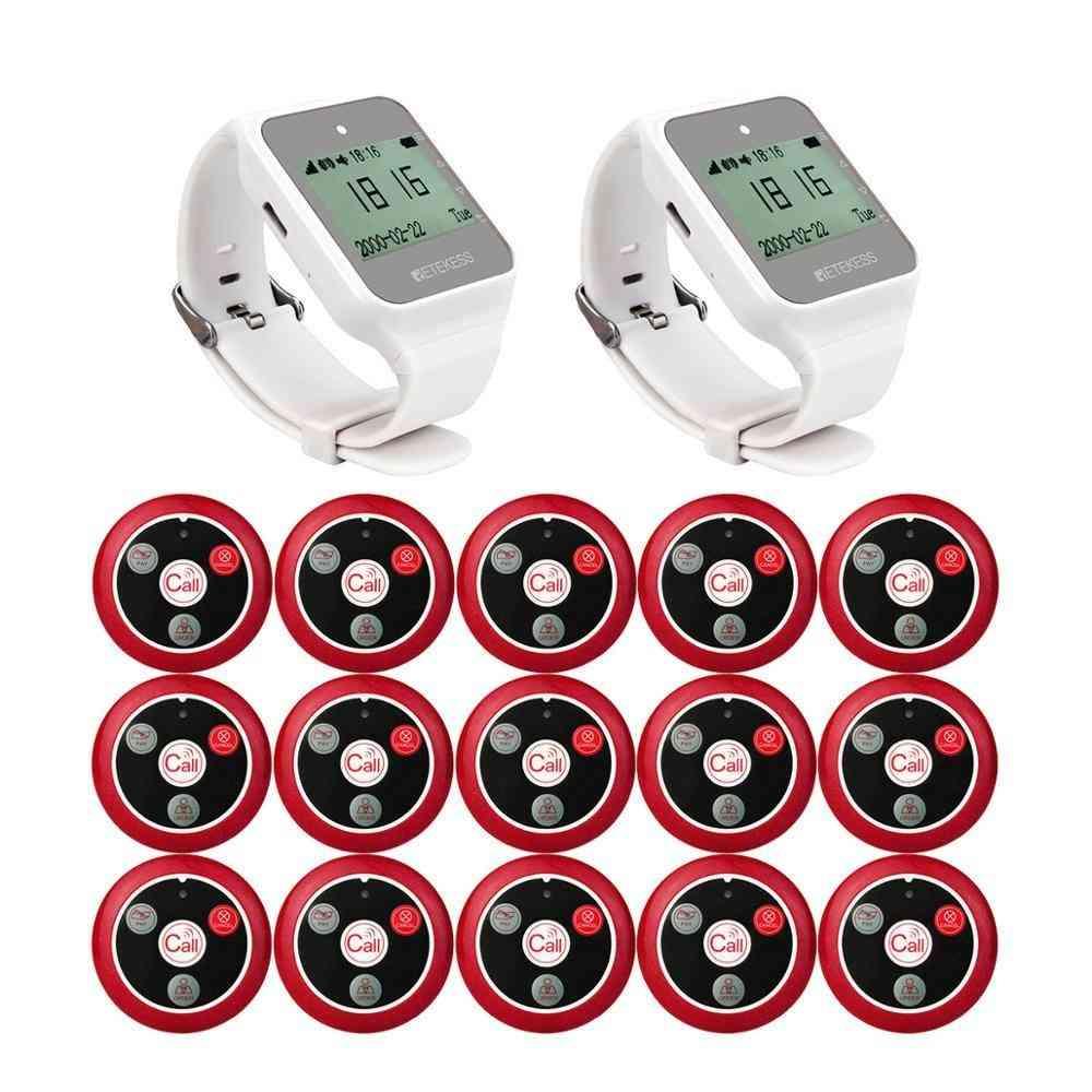 Retekess Restaurant Pager Hookah Wireless Waiter Calling System Watch Receiver