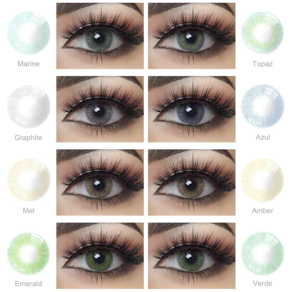 Yearly Colored Beautiful Natural Contact Lenses For Eyes Cosmetic