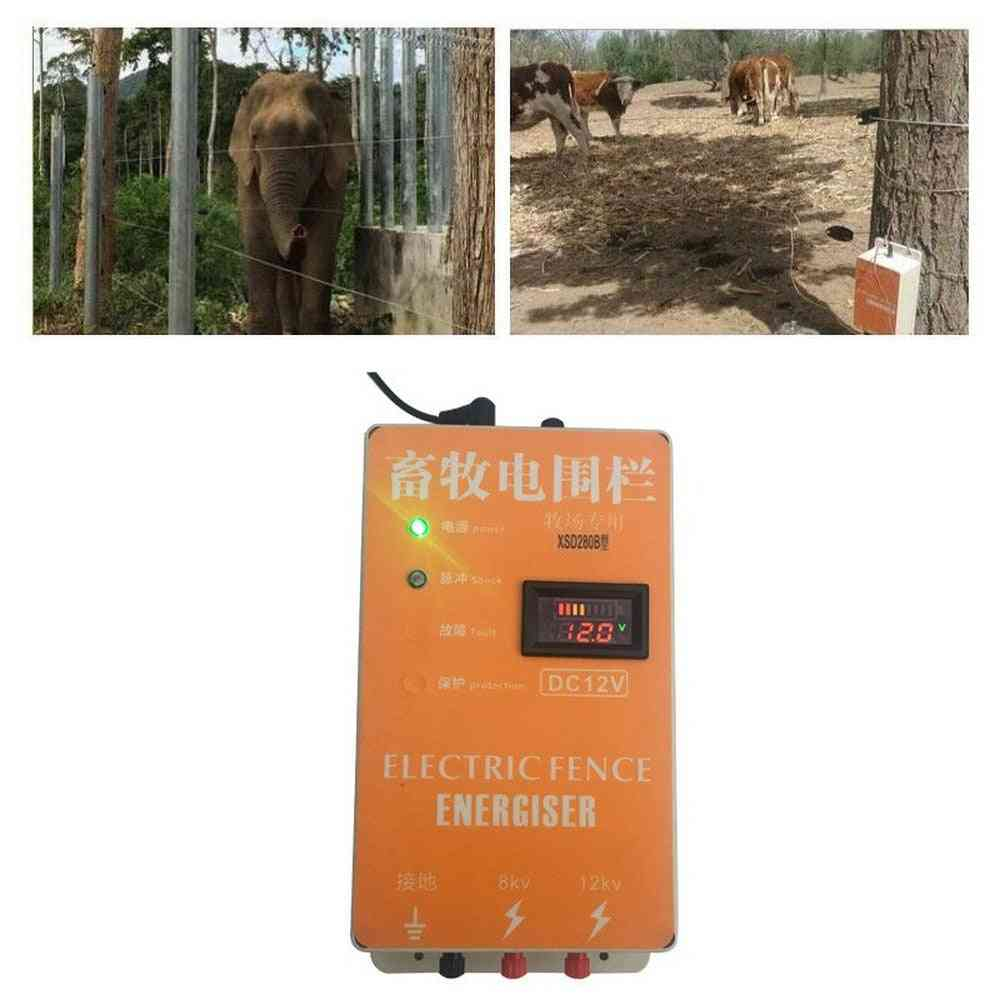 Solar Electric Fence, Alarm Energizer, Charger Controller, Animal, Sheep, Horse, Cattle Poultry Shepherd Farm Fencing