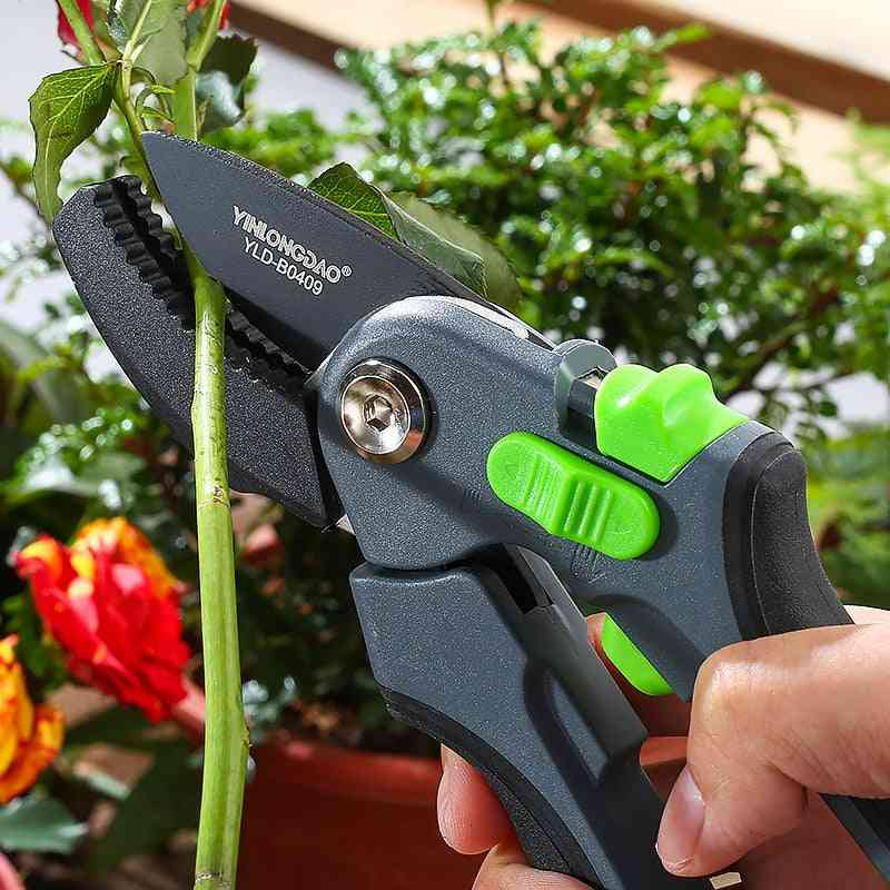 Garden Steel Pruning Shears Home Potted Greening Durable Labor-saving Tool